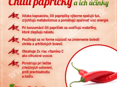čili papričky na chudnutie a zdravie človeka