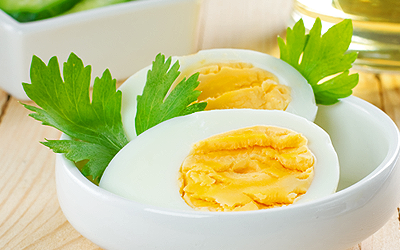 redukčná diéta - jedálniček - vajce natvrdo