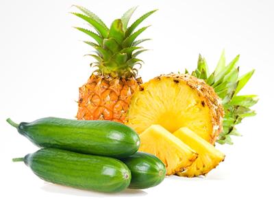 uhorkovo ananásový šalát