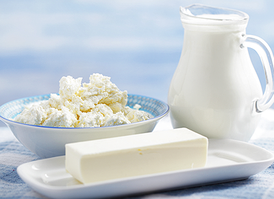 zdroje vápniku - mliečne výrobky