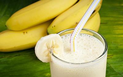mliečna diéta a banány