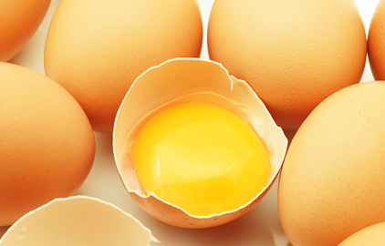 zdroje síry - vajcia