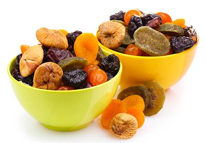 zdroje vitamínu b1 - sušené ovocie